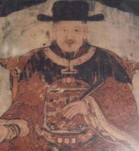 Chân dung quan trạng Lương Thế Vinh. Đền thờ ông hiện đặt tại xã Liên Bảo, huyện Vụ Bản, Nam Định.