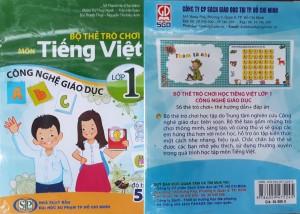 Bộ thẻ trò chơi môn Tiếng Việt lớp 1 Công nghệ giáo dục (mặt trước, mặt sau)